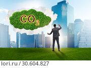 Ecological concept of greenhouse gas emissions. Стоковое фото, фотограф Elnur / Фотобанк Лори