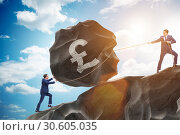 Купить «Trader trading in british pound», фото № 30605035, снято 21 июля 2019 г. (c) Elnur / Фотобанк Лори