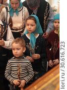 Праздник Входа Господня в Иерусалим в Новодевичьем монастыре Москвы (2019 год). Редакционное фото, фотограф Дмитрий Неумоин / Фотобанк Лори