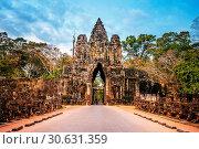 Купить «Sculptures in the South Gate of Angkor Wat, Siem Reap, Cambodia.», фото № 30631359, снято 5 января 2017 г. (c) easy Fotostock / Фотобанк Лори