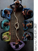 Купить «People with rope node», фото № 30631367, снято 5 июня 2016 г. (c) easy Fotostock / Фотобанк Лори