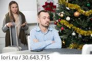 Unhappy couple quarreling. Стоковое фото, фотограф Яков Филимонов / Фотобанк Лори