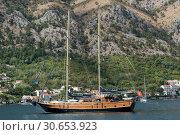 Купить «Sailboat in Bay of Kotor, Montenegro», фото № 30653923, снято 10 сентября 2017 г. (c) Ingram Publishing / Фотобанк Лори