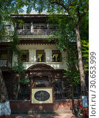 Mani Bhavan - Mahatma Gandhi's Residence in Mumbai 1917-1934, Gandhi's Museum & Library, Mumbai, Maharashtra, India. Стоковое фото, фотограф Keith Levit / Ingram Publishing / Фотобанк Лори