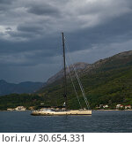 Купить «Sailboat in bay, Bay of Kotor, Montenegro», фото № 30654331, снято 19 октября 2019 г. (c) Ingram Publishing / Фотобанк Лори