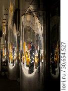 Купить «Vehicles on street reflected on glass, New York City, New York State, USA», фото № 30654527, снято 28 апреля 2016 г. (c) Ingram Publishing / Фотобанк Лори