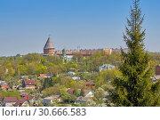 Купить «View of the Smolensk fortress, impregnable bastion, reliably defending the state borders», фото № 30666583, снято 3 мая 2018 г. (c) Андрей Зарин / Фотобанк Лори