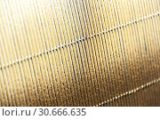 Купить «Luxury gold corrugated paper texture for background , abstract golden pattern», фото № 30666635, снято 26 апреля 2019 г. (c) bashta / Фотобанк Лори