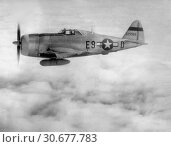 EUROPE -- 1940s -- Republic P-47,Thunderbolt flew its first combat mission - a sweep over Western Europe. Used as both a high-altitude escort fighter and... (2012 год). Редакционное фото, фотограф Jonathan William Mitchell / age Fotostock / Фотобанк Лори