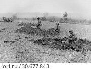 Купить «BELGIUM Bastogne -- 20 Dec 1944 -- Members of the US 630th Tank Destroyer Battalion, Company 'B' - who lost their vehicles during advance into Belgium...», фото № 30677843, снято 23 мая 2012 г. (c) age Fotostock / Фотобанк Лори