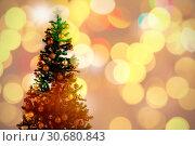 Купить «Composite image of defocused of christmas tree lights and fireplace», фото № 30680843, снято 23 октября 2019 г. (c) Wavebreak Media / Фотобанк Лори