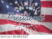 Купить «Composite image of god bless america. happy presidents day. vector typography», фото № 30683627, снято 9 июля 2020 г. (c) Wavebreak Media / Фотобанк Лори
