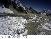 Купить «NEPAL Khumbu Glacier -- 16 Apr 2005 -- Aerial image of the ice pinnacles at the top part of the Khumbu Glacier underneath Mount Everest in Khumbu Himalaya...», фото № 30684775, снято 16 апреля 2005 г. (c) age Fotostock / Фотобанк Лори
