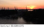 Timelapse Movement Of Water Types Of Moored Vessel. Стоковое видео, видеограф Pavel Biryukov / Фотобанк Лори