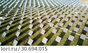 Купить «Electric power solar panels. Solar energy panel station», видеоролик № 30694015, снято 26 декабря 2018 г. (c) Яков Филимонов / Фотобанк Лори