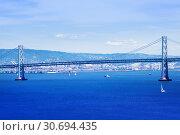 San Francisco and bay area with Golden Gate Bridge (2015 год). Стоковое фото, фотограф Сергей Новиков / Фотобанк Лори