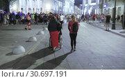 Disabled fan and accompanying people (2018 год). Редакционное видео, видеограф Потийко Сергей / Фотобанк Лори