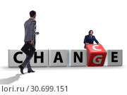 Купить «Businessman in change and chance concept», фото № 30699151, снято 13 декабря 2019 г. (c) Elnur / Фотобанк Лори