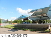 Купить «Russia, Moscow 25 May 2016, The Su-27 at the VDNKh», фото № 30699175, снято 25 мая 2016 г. (c) Бурухин Никита Юрьевич / Фотобанк Лори