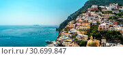 Купить «Panorama of amazing Amalfi coast. Positano, Italy», фото № 30699847, снято 23 июля 2013 г. (c) Alexander Tihonovs / Фотобанк Лори