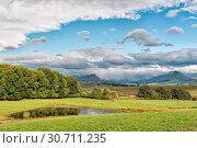 Купить «Landscape on P317-road to Garden Castle in the Drakensberg», фото № 30711235, снято 25 марта 2018 г. (c) easy Fotostock / Фотобанк Лори