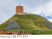 Купить «Gediminas' Tower, Vilnius, Lithuania», фото № 30711511, снято 15 июля 2018 г. (c) Boris Breytman / Фотобанк Лори