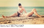 Купить «couple on the ocean coast», фото № 30712547, снято 25 июня 2014 г. (c) Яков Филимонов / Фотобанк Лори