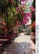 Купить «Street of old town Kaleici in Antalya, Turkey», фото № 30712991, снято 22 сентября 2018 г. (c) Наталья Двухимённая / Фотобанк Лори