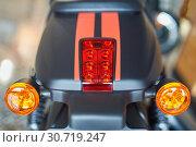 Motorcycle brake light. Стоковое фото, фотограф Николай Куницкий / Фотобанк Лори