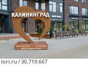 """Купить «Инсталляция """"Янтарное сердце"""" на улице Калининграда», фото № 30719667, снято 8 мая 2019 г. (c) Ирина Борсученко / Фотобанк Лори"""
