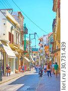 Купить «Street in Rethymno», фото № 30731439, снято 26 апреля 2018 г. (c) Роман Сигаев / Фотобанк Лори