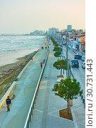 Купить «New sea-front and promenade in Larnaca», фото № 30731443, снято 24 января 2019 г. (c) Роман Сигаев / Фотобанк Лори