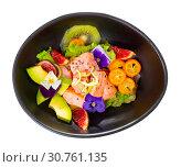 Купить «Delicious ceviche with salmon fillet», фото № 30761135, снято 22 августа 2019 г. (c) Яков Филимонов / Фотобанк Лори