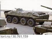 Купить «The armored conveyor on the embankment to Volgograd», фото № 30761159, снято 27 апреля 2019 г. (c) Владимир Арсентьев / Фотобанк Лори