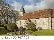 Купить «Autumn afternoon at Exton village church in Hampshire, England.», фото № 30767135, снято 3 декабря 2016 г. (c) age Fotostock / Фотобанк Лори