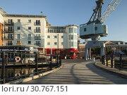 Купить «Afternoon at Gunwharf Quays in Porstmouth, Hampshire, England.», фото № 30767151, снято 31 марта 2016 г. (c) age Fotostock / Фотобанк Лори