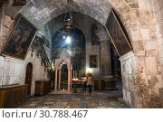Купить «Church of the Holy Sepulchre, the place where the myrrh-bearing women watched the Suffering and Crucifixion of the Lord. Jerusalem, Israel», фото № 30788467, снято 5 декабря 2015 г. (c) Наталья Волкова / Фотобанк Лори