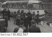 Перед отъездом в южный лагерь НИИ Автоприборов. 1962. Редакционное фото, фотограф Retro / Фотобанк Лори