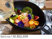 Купить «Delicious ceviche with salmon fillet», фото № 30802699, снято 16 июля 2019 г. (c) Яков Филимонов / Фотобанк Лори