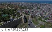 Купить «Древняя крепость в Дербенте. Дагестан. Видео с дрона.», видеоролик № 30807295, снято 26 июня 2016 г. (c) kinocopter / Фотобанк Лори