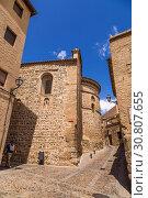 Купить «Толедо, Испания. Колоритная средневековая архитектура старого города», фото № 30807655, снято 25 июня 2017 г. (c) Rokhin Valery / Фотобанк Лори