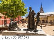 Купить «Толедо, Испания. Памятник кардиналу Кириаку Санча-и-Эрвас ((Ciriaco Sancha y Hervas)», фото № 30807675, снято 25 июня 2017 г. (c) Rokhin Valery / Фотобанк Лори