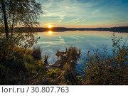 Тишина на лесном озере. Стоковое фото, фотограф Евгений Горбунов / Фотобанк Лори