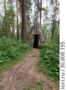 Купить «Old hovel of ancient altai people», фото № 30808195, снято 28 июля 2017 г. (c) Jan Jack Russo Media / Фотобанк Лори
