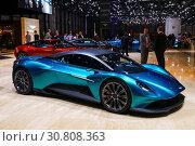 Aston Martin Vanquish Vision (2019 год). Редакционное фото, фотограф Art Konovalov / Фотобанк Лори
