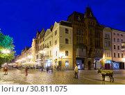 Купить «Torun old town streets and building in twilight, Poland», фото № 30811075, снято 11 мая 2018 г. (c) Яков Филимонов / Фотобанк Лори