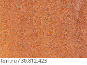 Купить «Close up macro view of flecked old rusty metal surface yellow-orange color», фото № 30812423, снято 13 мая 2019 г. (c) А. А. Пирагис / Фотобанк Лори