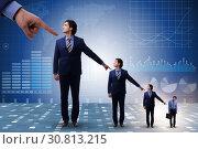 Купить «Businessmen blaming each other for failures», фото № 30813215, снято 18 июля 2019 г. (c) Elnur / Фотобанк Лори