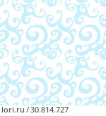 Купить «Vector seamless pattern background with blue swirl», иллюстрация № 30814727 (c) Helen Burceva / Фотобанк Лори