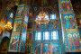Купить «Cathedral of Our Savior on Spilled blood. Interior of St Petersburg landmark. Mosaics at the columns and walls», фото № 30815067, снято 5 апреля 2019 г. (c) Зезелина Марина / Фотобанк Лори